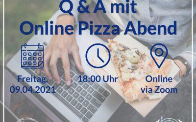 O-Woche SoSe 2021 – Q&A mit Online Pizza Abend am 09.04.