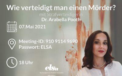 L@W-EVENT mit Rechtsanwältin DR. ARABELLA POOTH am 07.05.