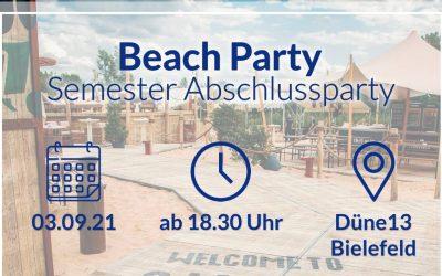 Beach Party zum Semesterabschluss